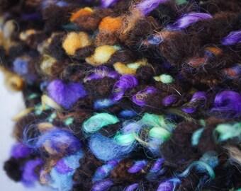 Magic Mountain/ Handspun Art Yarn/ Lock Spun Yarn/ Teeswater/ Wensleydale/ Handspun/ Two Ply