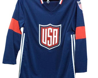 Custom made Stitched 2017 US Ice Hockey  Jersey  Any Name Number Size Available