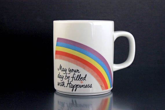 Mug, Avon, Happiness, Rainbow, Easter, 1984, Coffee Mug, Tea Mug, Hot Chocolate Mug,