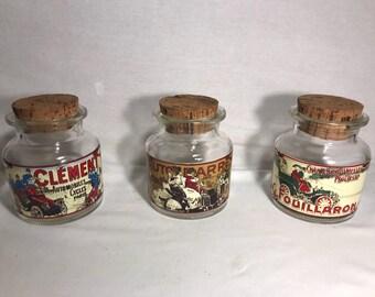 Former pasta strainer set of 3 decorative glass candy jar