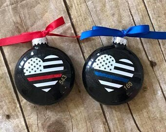 Police/Firefighter Christmas Ornament