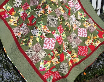 Aloha! quilt/quilts for sale/Hawaiian quilt/gift for her/gift for him/lap quilt/throw quilt/Hawaiian decor/