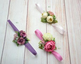 Baby shower Baby girl flower headband Flower hair accessories Baby headband Flower girl headband Toddler headband Flower headband for girl