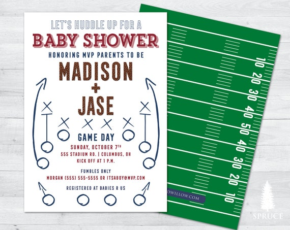 Football baby shower invitations football shower invitation il570xn filmwisefo