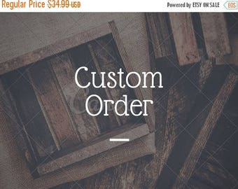 SUMMER SALE CUSTOM Sign Order - 24 x 9.5 inch wood sign - Create your own sign listing