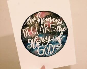"Psalm 19:1 8x10"" Print"