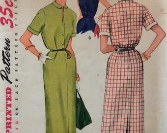 Simplicity 4636 misses slim dress size 14 bust 32 vintage 1950's sewing pattern  Uncut  Factory folds