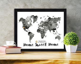 Framed Housewarming gifts Personalized housewarming gift New house gift