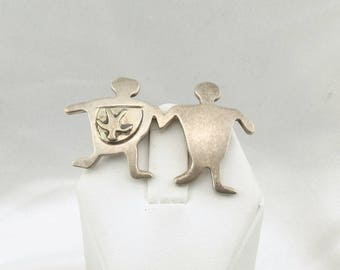 """Unique Sterling Silver """"Pregnant"""" Family Brooch/Pin  #BABY-BR1"""