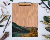 Echo Lake Clipboard, Tahoe Area, California, Wood Clipboard, Natural Wood