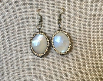 Opaque Stone Drop Earrings