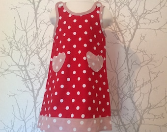 Made to order: girls dress in any size, large choice of fabric
