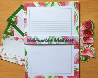 Watermelon Madness Writing Set- Starionery- Lined-Note Paper
