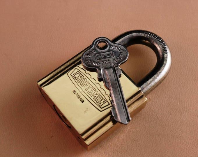 Craftsman brass pad lock with one key