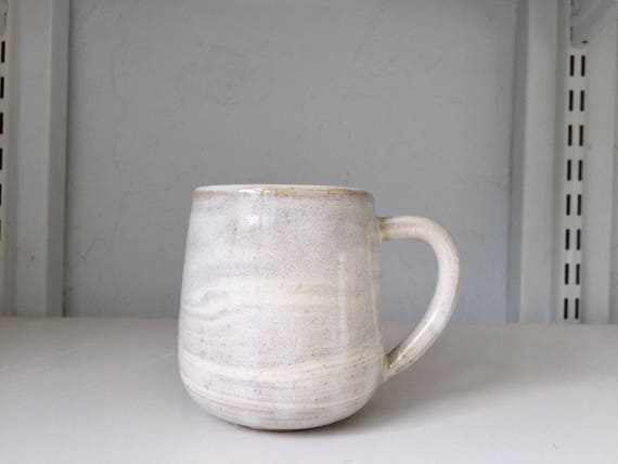 ceramic coffee mug-marble  design -Beige and white- NEW Limited edition!