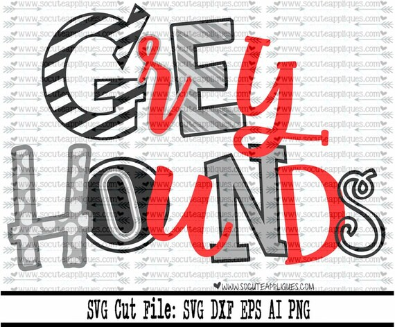 Greyhounds Svg Cut File Cheer Svg School Spirit