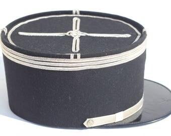 French Vintage, military hat,cap,Kepi ,Militaria ,French Gendarmerie,Police