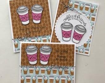 Coffee card set of 3