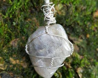 Labradorite Wire - Wrapped Pendant