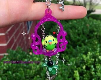 Budgie Parakeet Necklace