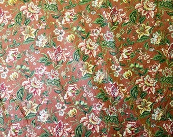 Swavelle/Mill Creek - Floral - Orange - Green - Pink - Yellow - Metallic - Gold - By the Yard - Morningstars