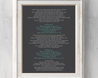 Ed Sheeran Print. Kiss me under the light of a thousand stars.  Thinking out loud.  All Prints BUY 2 GET 1 FREE!