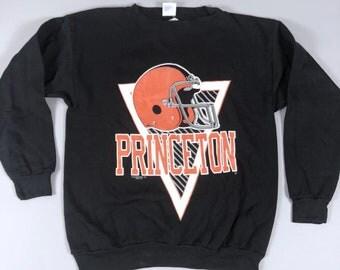 Vintage 80s Deadstock Princeton University Tigers Sweatshirt Tultex Mens Size XL