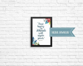 2018 Year Text 5x7 Digital Download - Best Life Ever, JW Gift, Pioneer Gifts, Scripture Art, Wall Decor, Jehovah's Witnesses, JW org