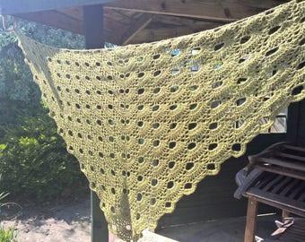 Handmade Lightweight Crochet Shawl/Wrap/Triangle Scarf Virus Pattern