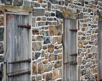 Architecture Photography, Large Wall Art Print, Barn Door Photography, Fine  Art Print,