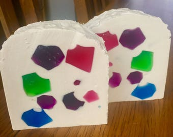Bejewelled Soap Slice