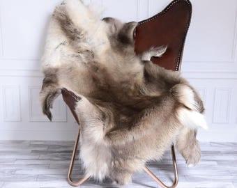 Reindeer Hide | Reindeer Rug | Reindeer Skin | Throw XL Large - Scandinavian Style #15RE17