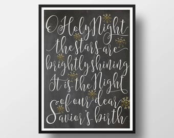 Christmas Print O Holy Night
