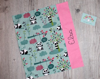 "Canteen, birthday, Easter * napkin, canteen, ""as the great"", personalized, cotton, pandas - custom"
