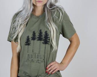 Black Hills Olive Evergreen tee