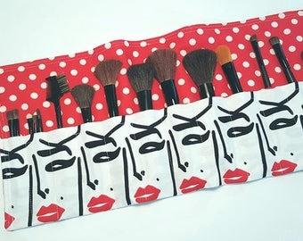 Make Up Brush Holder-Cosmetics-Make Up Roll Up-Make Up Brush-Make Up Tools-Luggage-Travel--Cosmetics Bag