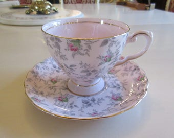 ENGLAND TUSCAN TEACUP and Saucer Set