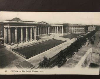 Vintage postcard - British Museum, London, UK! 1920s!