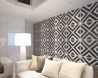 Geometric Wall Art   3D Wall Panels   Wall Paneling   Decorative Wall  Panels   Wall