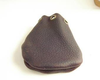 Small Plain Leather Dice bag