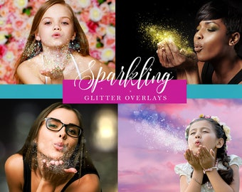 10 Scattered Sparkling Glitter Overlays 300dpi JPG for your Photography