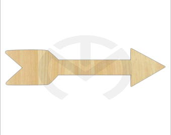 Unfinished Wood Arrow Laser Cutout, Home Decor