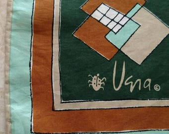 Vintage Vera Neumann geometric scarve