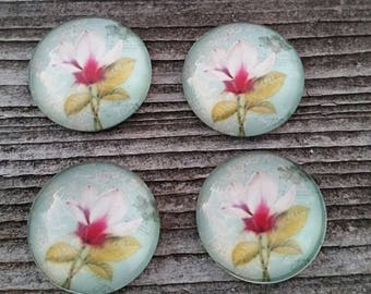20mm Lotus Glass Cabochons