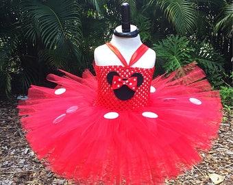 Minnie Mouse tutu dress, Minnie Mouse tutu, Red Minnie dress, Red Minnie tutu, Minnie tutu dress, Minnie Mouse costume