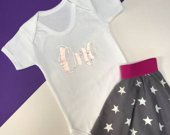 Gold Glitter Baby Girl 1st Birthday Outfit | One Year Old | First Birthday Outfit Girl | Baby Bodysuit | SS Vest One