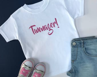 Twonager! Second Birthday Outfit Girl | Girls 2nd Birthday Outfits | Toddler Birthday Outfit | Brush Twonager