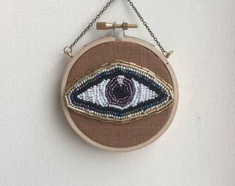 Litle beaded evil eye