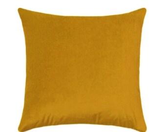 Mustard Velvet Throw Etsy