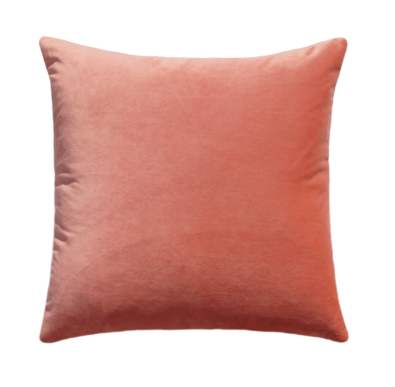 Coral Velvet Pillow Cover Coral Pillows Velvet Pillow Covers